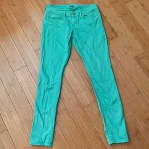 American Eagle Turquoise Skinny Jeggings